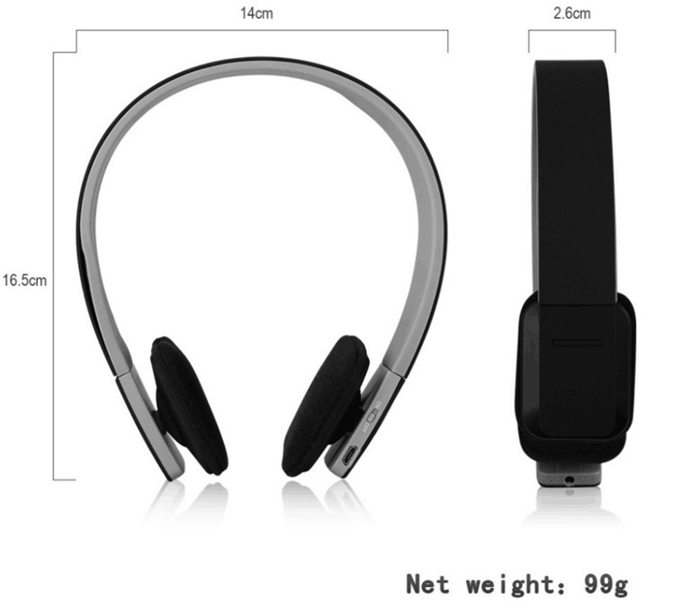 brand AEC Noise Reduction wireless Bluetooth stereo Headphones earphone Headset with MIC for iPhone 5 5S for Ipad for Tablet PC