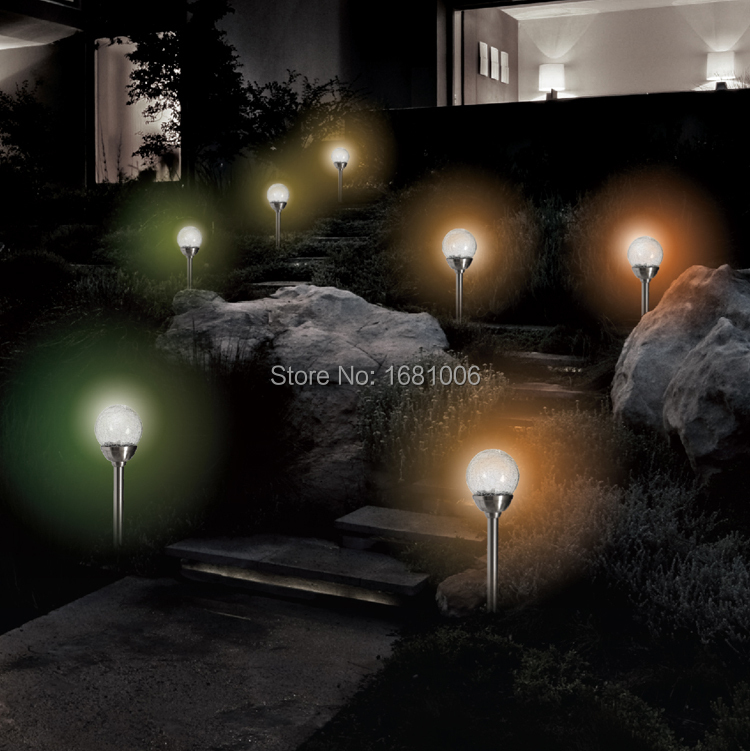 Solar energy lamp,outdoor lamp garden lights with switch,changes color gently,automatically light up Bulb L002(China (Mainland))