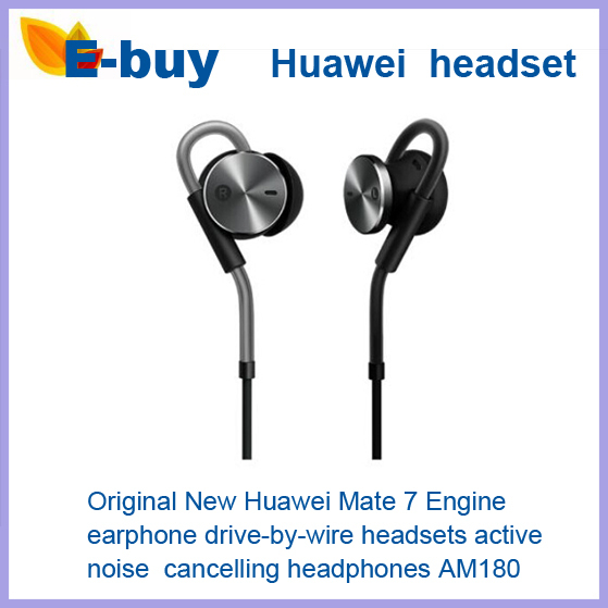 100% Original New Huawei Mate 7 Engine Earphone Drive-By-Wire Headsets Active Noise Cancelling Headphones AM180 - E-Buy Store store