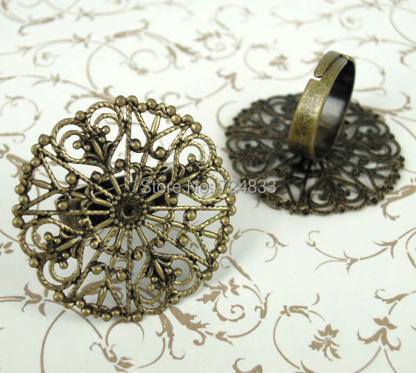 Adjustable Ring Bases With  Open Mm Pads