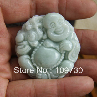 Jade Buddha Pendant female models laughing A cargo the necklace Shuilv open light of Maitreya public hd 0017<br><br>Aliexpress