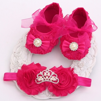 2015 Girl infant tiara baby shoe Белый first walkers;born baby girl shoes;toddler ...