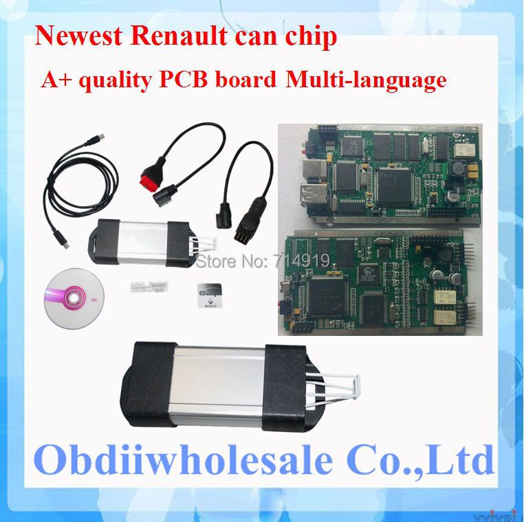 DHL Free 2015 Top-Rated Free Shipping newest Renault Can Clip v146 version multi-languages Renault Can Clip diagnostic interface(China (Mainland))