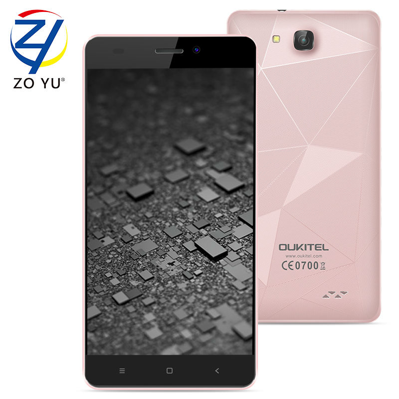 OUKITEL C3 Smartphone MTK6580A 3G WCDMA Android 6.0 Marshmallow Mobile Phone 1GB+8GB Quad-Core 8.0MP 5.0HD 2000mAh Cell phone(China (Mainland))