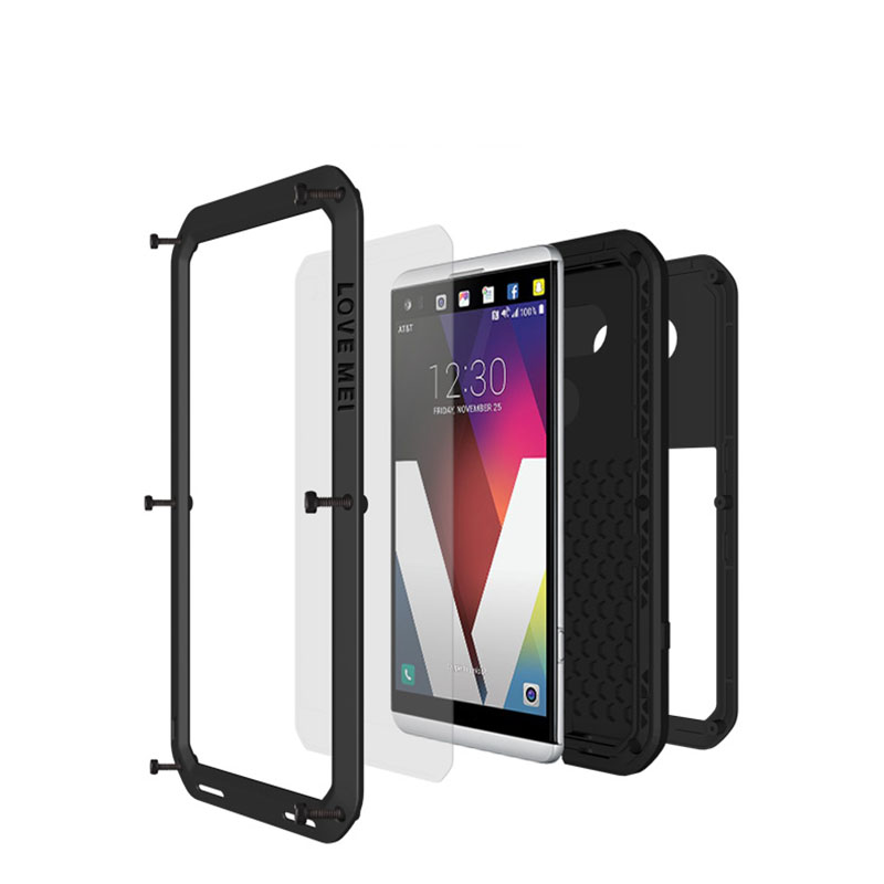 For LG V20 Case Original Lovemei Aluminum Case+ Gorilla Glass Drop Water proof Cover case for LG V20 cell phone(China (Mainland))
