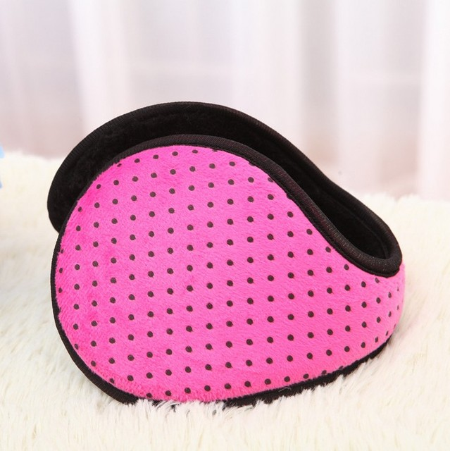 After the dot women's ear package plush earmuffs winter thermal