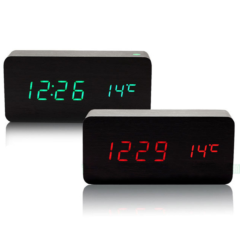 Home Doctor Alarm Clocks, LED Clock, digital clock, desktop clocks for Modern Calendar Thermometer Wood Wooden for wholesale(China (Mainland))