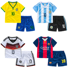 Thin breathable baby football set child 2015 children s clothing clothes twinset male child sports set