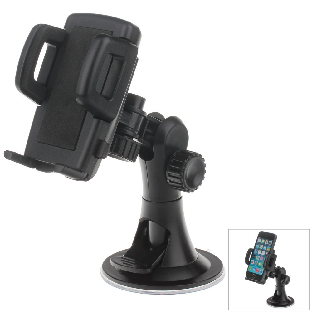 """H08 Car Suction Cup Mount Holder + C47 4.3"""" / 5"""" Back Clip for Cell Phones / MP5 / GPS - Black(China (Mainland))"""