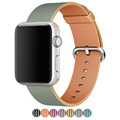 Woven Nylon Watchband for iWatch Apple Watch 38mm 42mm Colorful Band Fabric Strap Bracelet with Built
