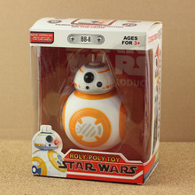 1pcs Star Wars The Force Awakens BB8 BB-8 Droid Robot Action Figure 5″ sound and light Effect doll kids toys for boys girl