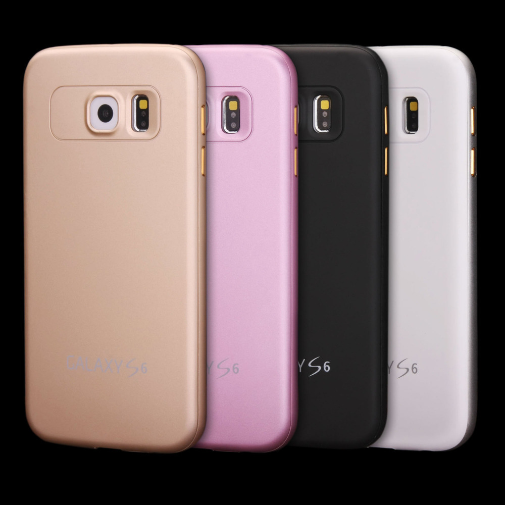 Luxury Matte Metal Frame Plastic Back Cover Case Samsung Galaxy S6 G920 G9200 - Starbox Technology Co., Ltd. store