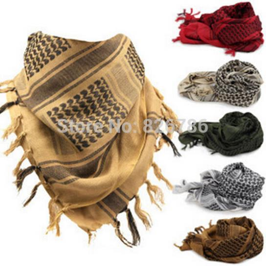 Arab Scarves Men Winter Military Windproof Scarf 100 Cotton thin Muslim Hijab Shemagh Tactical Desert Arabic