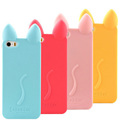 koko cat 3d Cute Soft Silicone Case for iPhone 4 5C 5S 6 6Plus Rubber Phone