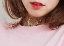 Fashion Jewelry Harajuku sweet heart Necklace Clear Transparent PU Leather Choker Punk Goth 100 Handmade Collar