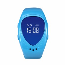 Free shipping, GPS watch tracker for kids with google map, sim card slot, sos call button and mobile apps