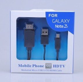 Free shipping MHL Micro USB to HDMI HDTV Adapter For SAMSUNG Galaxy Note 3 /N9008/N9009(China (Mainland))