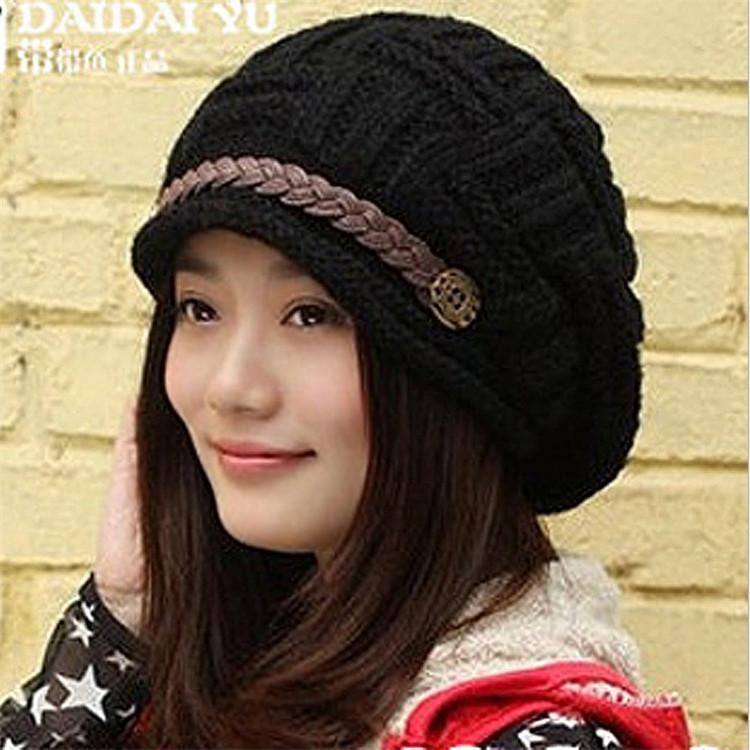 2015 fashion casual autumn winter women's caps ladies hats female women beanies - shining room store