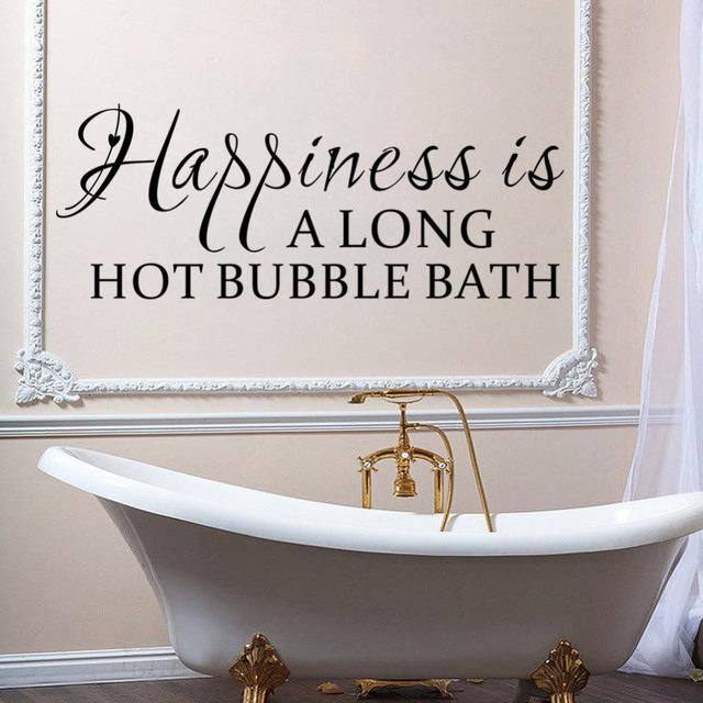 Виниловые наклейки счастье это долгое жаркое пузырь ванная комната на стены домашнего декора поделки главная гостиная спальня украшения