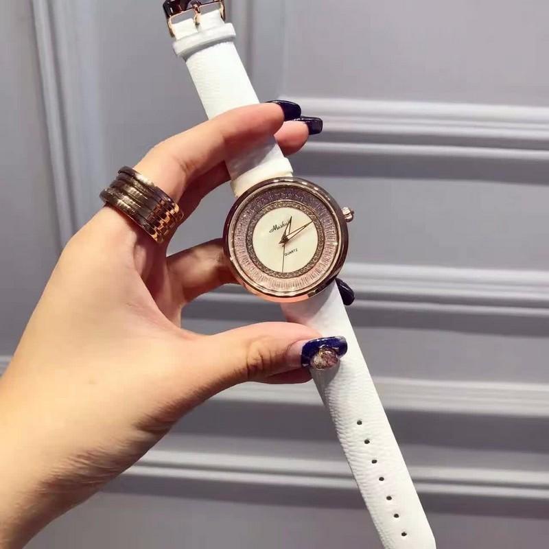 Люксовый Бренд Часы Женщины Кварцевые Часы Водонепроницаемые Повседневная Мода Цветок Стразы Кожа Наручные Часы relogios feminino