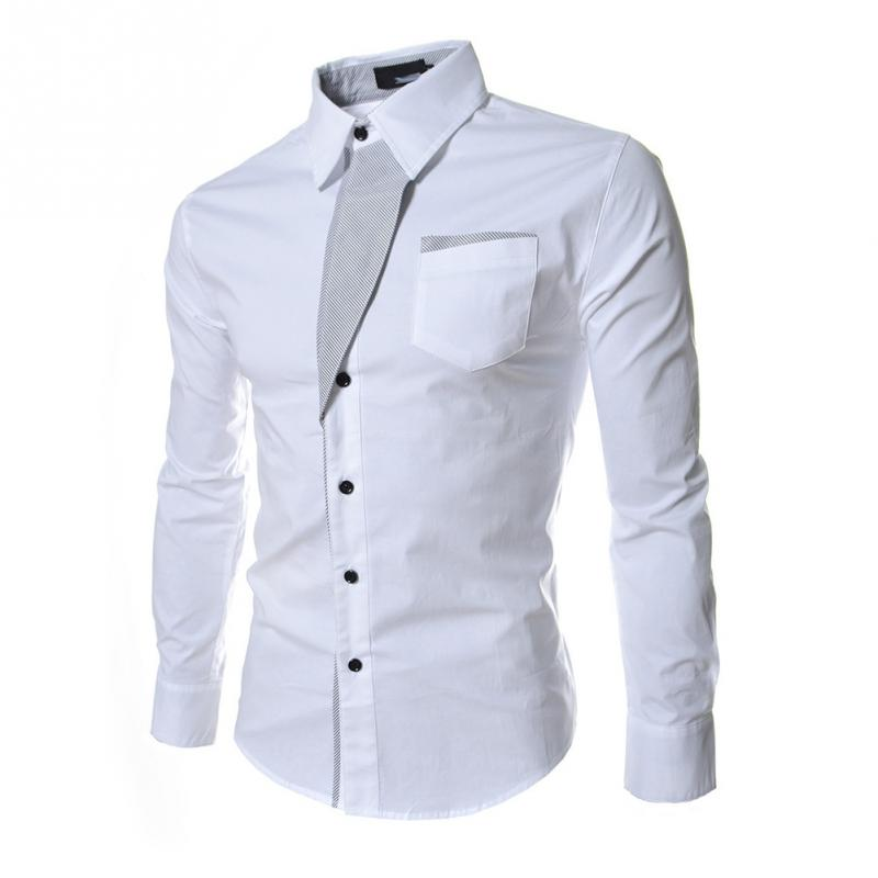 Fashion men shirts with stripes assorted colors style slim for Finest mens dress shirts