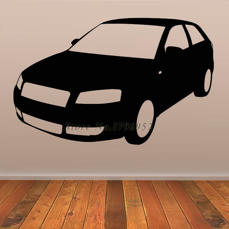 simple cartoon car wall decals removable vinyl adhesive good quality