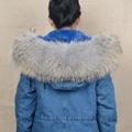 2016 Large Raccoon Real Fur Trim Collar Women Men Fashion Natural Scarf Lining 80cm S1535