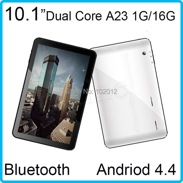 1.5GHZ allwinner A23 dual core free shipping wifi 1GB/16GB Bluetooth Dual Camera Dual Core android 4.4 tablet pc 10inch
