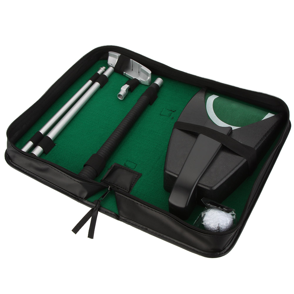 Indoor Golf Set Putter Automatic Golf Ball Kick Back Return Putting Cup Device Golf Training Aids Gift Set(China (Mainland))