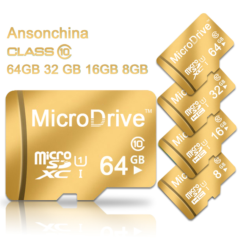 New design Gold Micro SD card memory cards tf card 4GB/8GB/16GB/32GB/64GB real capacity class 6 class 10 for cell phones tablet(China (Mainland))