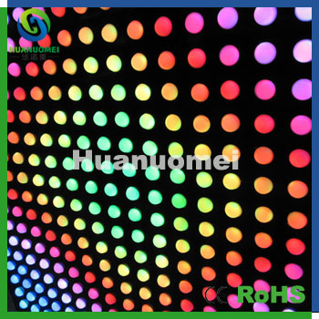 dynamic color effect DC24V D35mm RGB digital led pixel point SMD5050 led pixel module for wall display(China (Mainland))