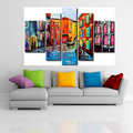 Hand Painted Modern Abstract Venice Landscape Oil Paintings On Canvas Wall Art Paintings For Living Room