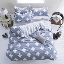 USA Russia Brazil Europe Size Bedding Sets Gray Flowers Duvet Cover Set Double Queen King Single Soft Bedclothes(China)