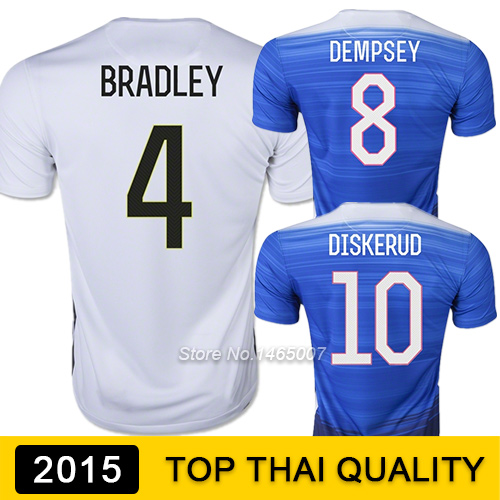 Top AAA Thai Quality 15/16 Football Jerseys Youth BRADLEY AMERICA DEMPSEY Team USA SOCCER JERSEY 2015 Camisetas de futbol(China (Mainland))