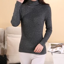 18 colors. 2015 New Women Cashmere Sweater Women fashion Autumn and Winter Warm Turtleneck Sweater Women Pullover Free Shipping(China (Mainland))