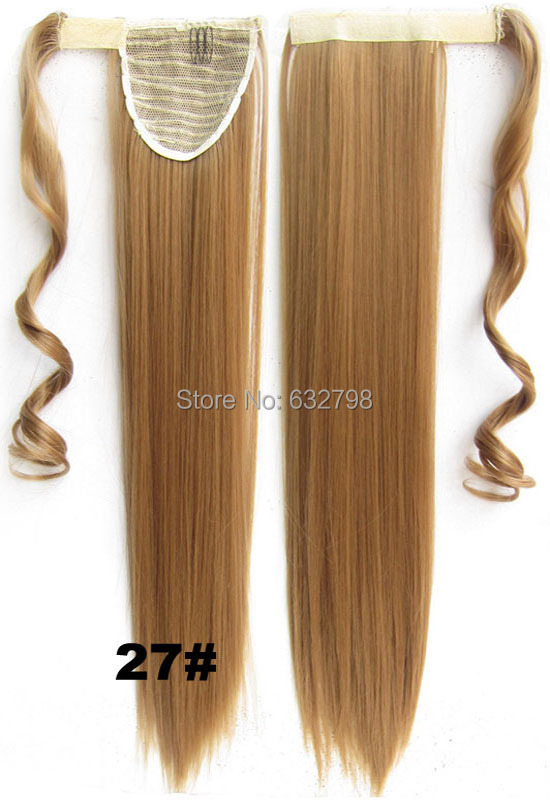 Wholesale Hair Piece 24inch 60cm 100g Straight Ponytails Magic