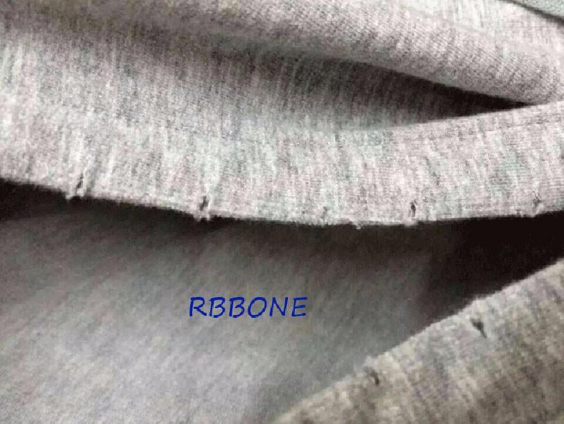 HIPFANDI New Kanye West Short Hoodies Hooded T shirt Lengthen Extended oversized Cool Ripped Damaged T shirt Half Hoody