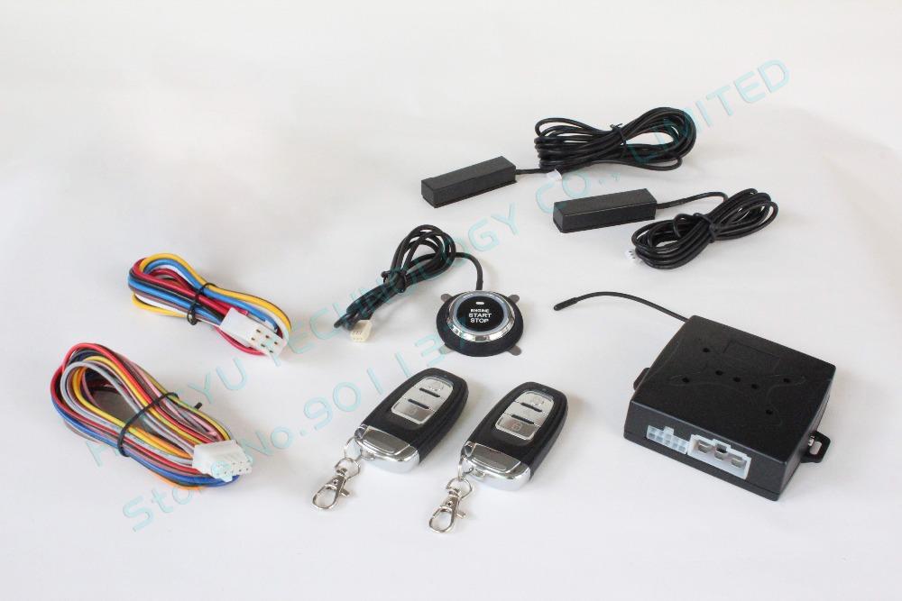 Пке система сигнализации толчок для пуска, Пассивный автозапуск, Дистанционного запуска двигателя, Автоматической блокировки двери автомобиля, Но нет сирена HY-904 RM2