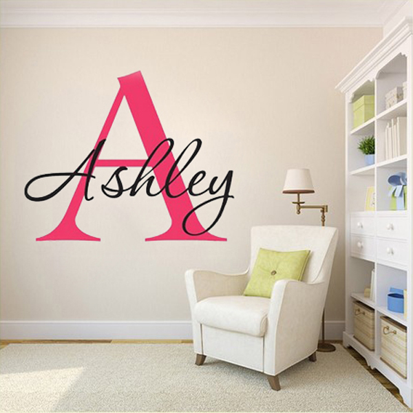Customized Wall Stickers For Bedrooms Custom Personalized Name Monogram Wall  Stickers Say Quote