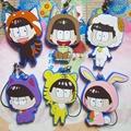 Osomatsu Kun Anime Jyushimatsu Todomatsu Ichimatsu Karamatsu Choromatsu Rubber Resin Keychain Pendant