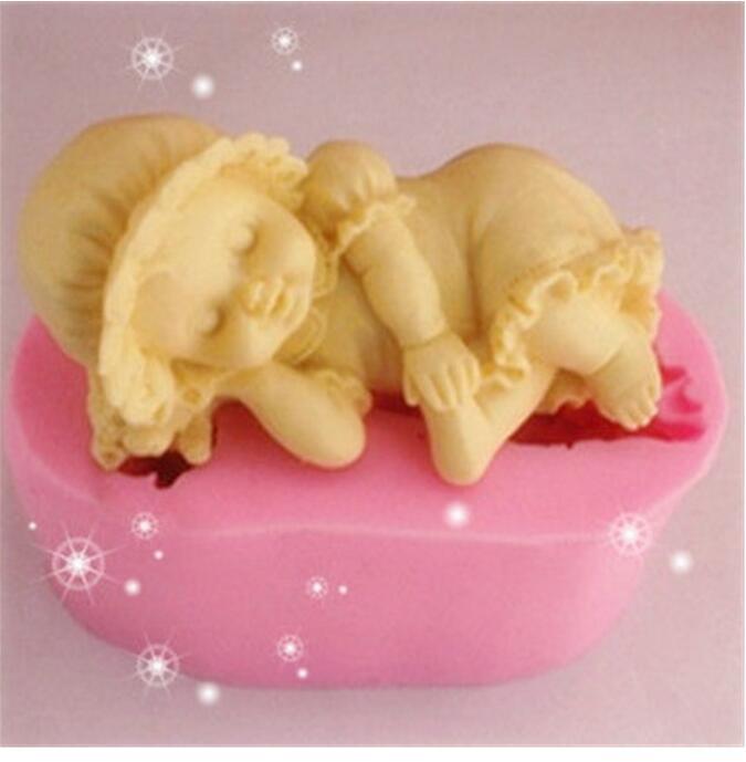 2016 Sale Fda New 3d Stereoscopic Sleep Girl Cake Diy Soap Mold Bakeware Food Grade Liquid Chocolate Molds Environmental - Venisi Silicone mold firm store