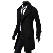 New arrival brand design men winter trench coat high quality manteau homme duffle long style peacoat double breasted jacket(China (Mainland))