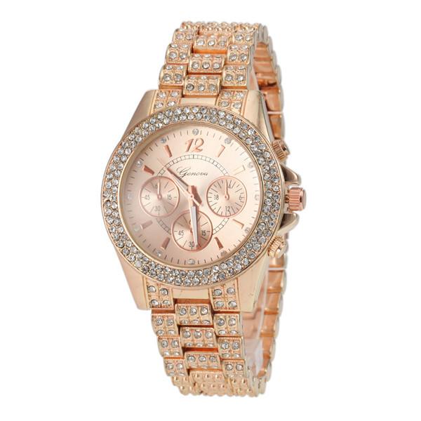 2015 Womens Wrist Watches Casual Fashions Fashion Waterproof Rhinestone Watch Famous Brand Ladies Watch<br><br>Aliexpress