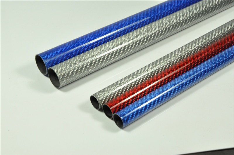2X Roll Carbon Fiber Tube 23mm*21mm*500mm for RC Airplane 3K Glossy 3 Color Pick(China (Mainland))