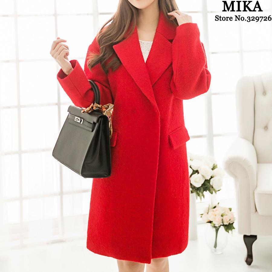 MIKA FASHION2014 new winter women's circle Korean goddess temperament long wool coat/winter coats jackets 68316  -  MOBABY CITY store