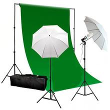 Ps1-02 10 x 20 FT Photo Studio parapluie éclairage Kit Muslin toile de fond et fond photographie de Studio