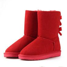 HABUCKN/2018; высококачественные Брендовые женские зимние ботинки; зимние ботинки из натуральной кожи; женские ботинки на шнуровке; обувь; zapatos(China)
