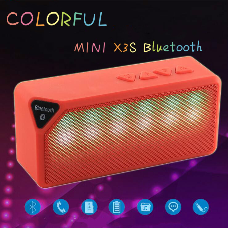 Mini x3s colorful led lights pulse built in mic wireless for Led light bulb with built in bluetooth speaker