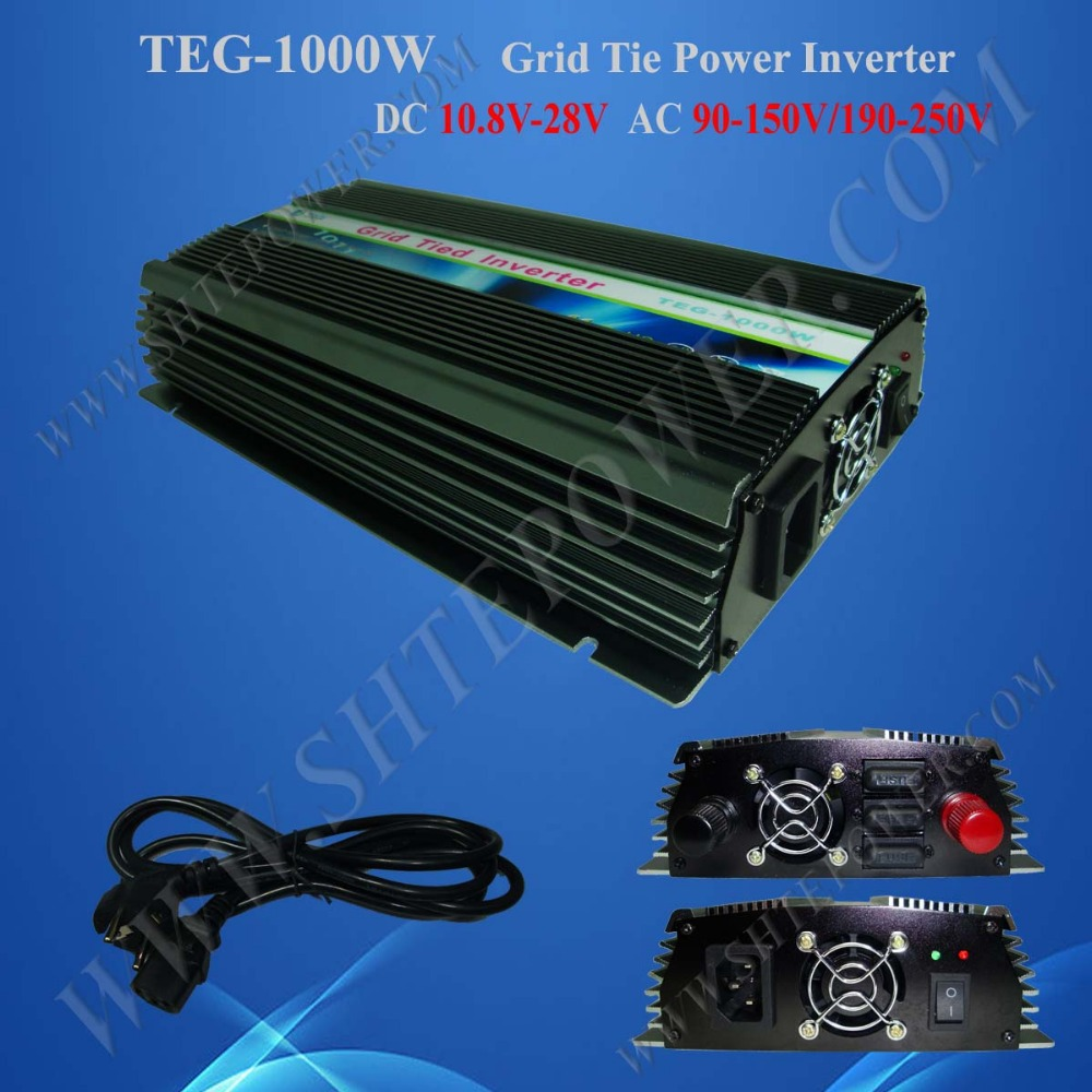 Best price 1000w on grid tie power inverter, 12v 24v solar mppt inverter for grid tie solar system(China (Mainland))