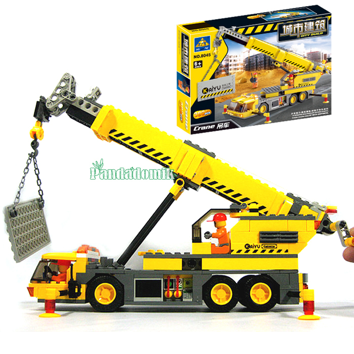 Building Blocks Compatible with lego City 380 pcs Crane Models Building Toy with Action Toy Figures toys hobbies(China (Mainland))